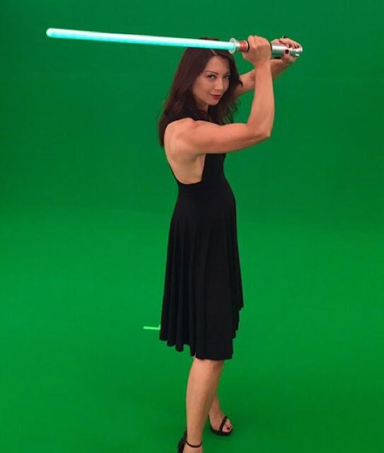 ming-na wen with light saber