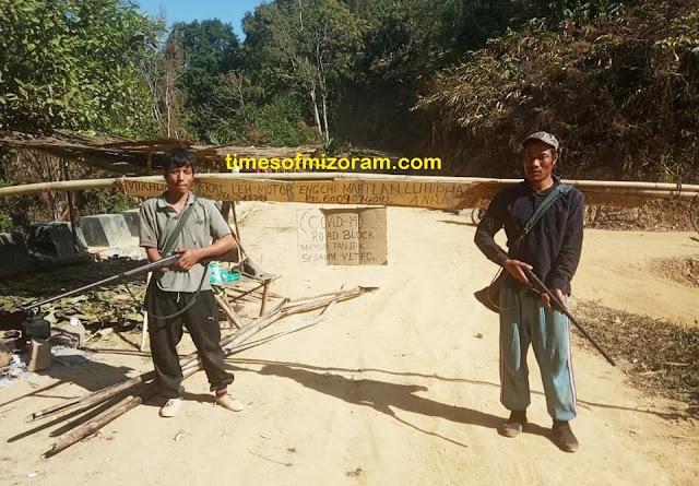 Covid19 Road block Mizoram