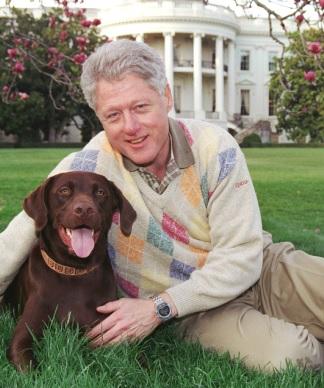 Foto de Bill Clinton en el jardín de la Casa Blanca