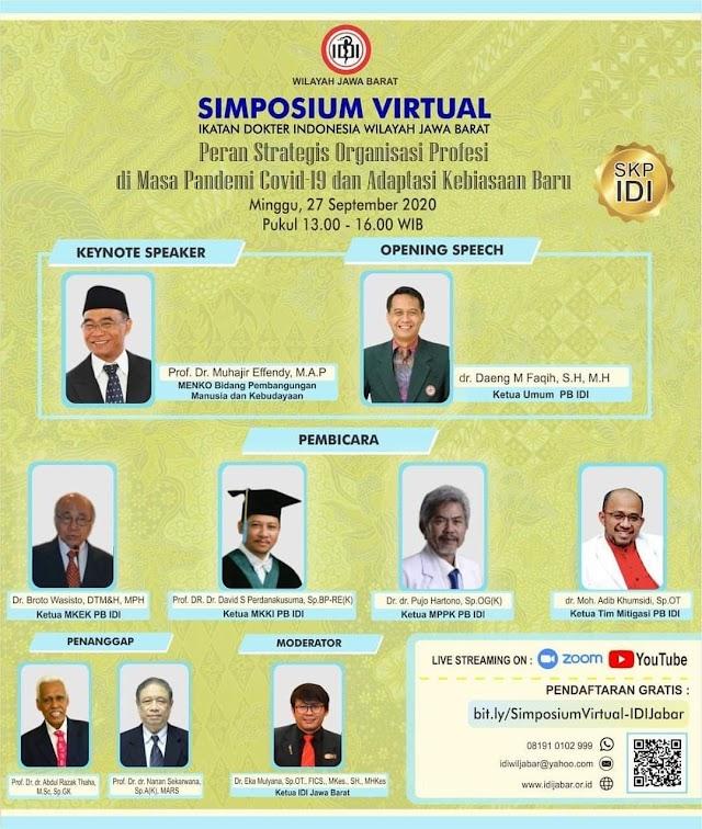 "Simposium Virtual ""Peran Strategis Organisasi di Masa Pandemi Covid-19 dan Adaptadi Dunia Baru"""