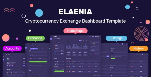 Cryptocurrency Exchange Dashboard Template