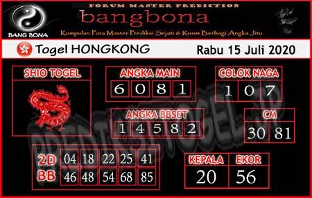 Prediksi Bangbona HK Rabu 15 Juli 2020