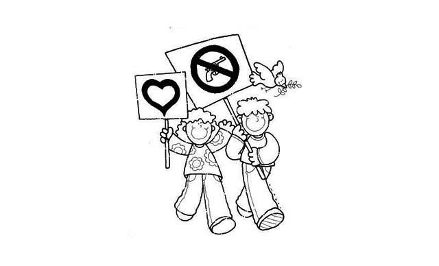 dibujos faciles violencia de genero