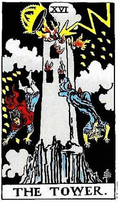 Arcano Mayor de la Torre en Tarot de Rider Waite