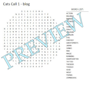 "Round word search with a blurred word list and the word ""preview"" across the front."