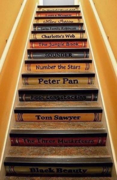 original decoración de escalera