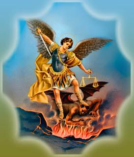 San Miguel Arcángel encadenando a la serpiente por Mil años