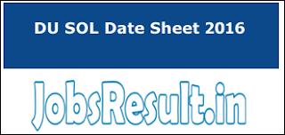 DU SOL Date Sheet 2016
