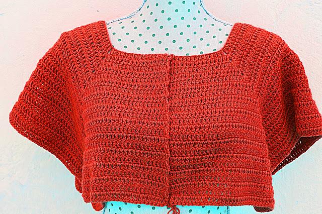 4 - Crochet Imagenen Canesú para chaqueta a crochet y ganchillo por Majovel Crochet