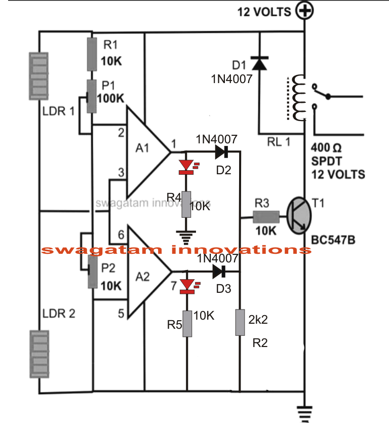 the circuit diagram for this simple set is as follows