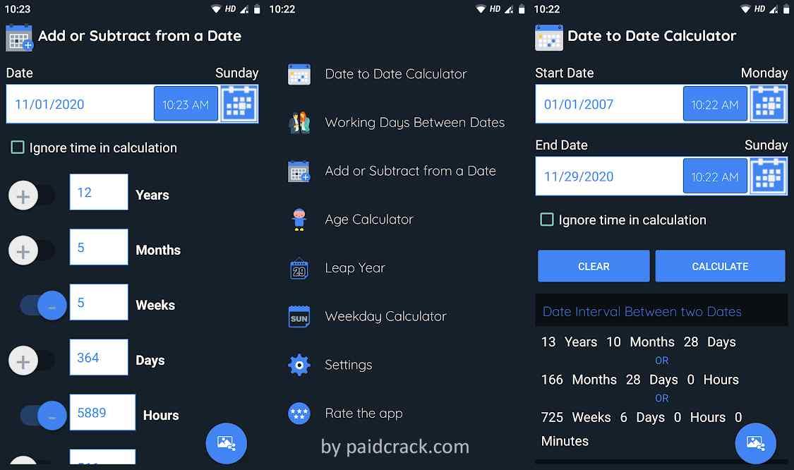 Date Calculator Pro Mod Apk