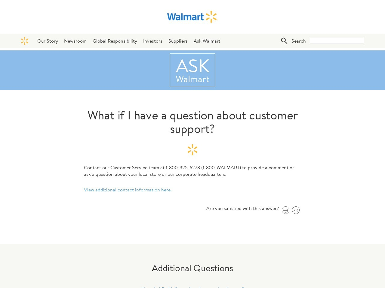 What if I have a question about customer support?