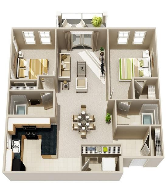 Denah Rumah Minimalis Keluarga Kecil