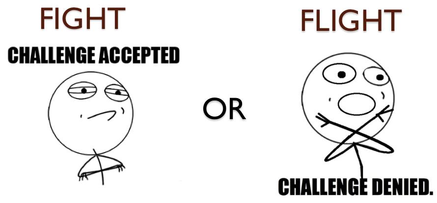'Fight or 'Flight' ? Kenalilah Diri Sendiri !