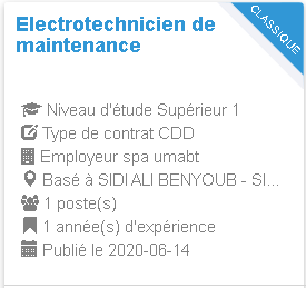 Electrotechnicien de maintenance