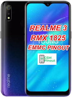 Realme 3 RMX1825 ISP (EMMC) Pinout For EMMC Programming Flashing And Remove FRP Lock