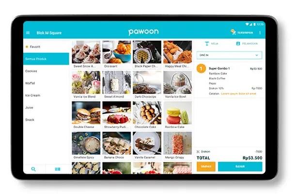 aplikasi kasir gratis bahasa indonesia pawoon