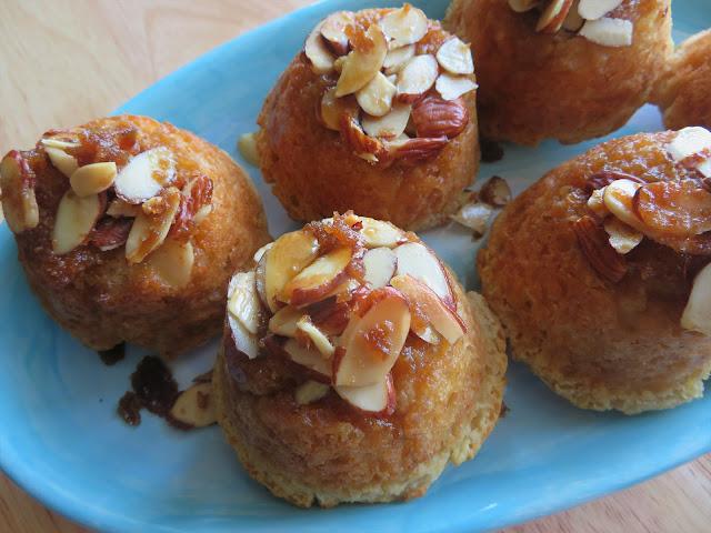 Sticky Almond Muffins