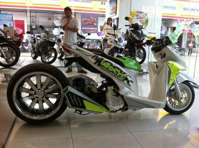 тюнинг скутер большое колесо