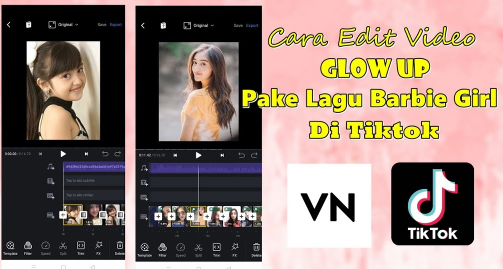 Cara Membuat Video Glow Up di TikTok