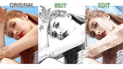 aplikasi pengubah foto menjadi sketsa wajah hitam putih dan kartun