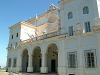 The facade of the Villa Falconieri in Frascati, where Bombelli stayed