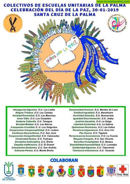 Un año más el Colectivo de Escuelas Unitarias de La Palma renueva su compromiso con la paz