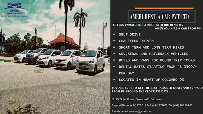 Rent a Car from Ameri Rent a Car.