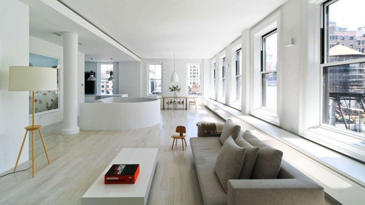 "Open living room in Modern New York Apartment by ""Resolution: 4 Architecture"""