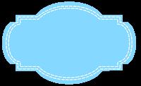 Plaquinha azul com traço em png