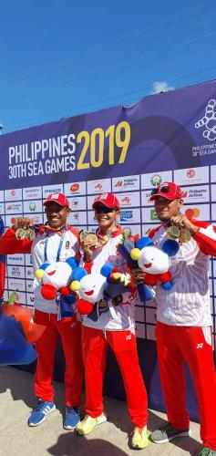 Menginspirasi, Tiga Atlet Asal Kuansing Sumbang 9 Medali untuk Indonesia di SEA Games Filipina 2019