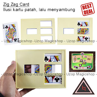 Jual alat sulap zig zag card india