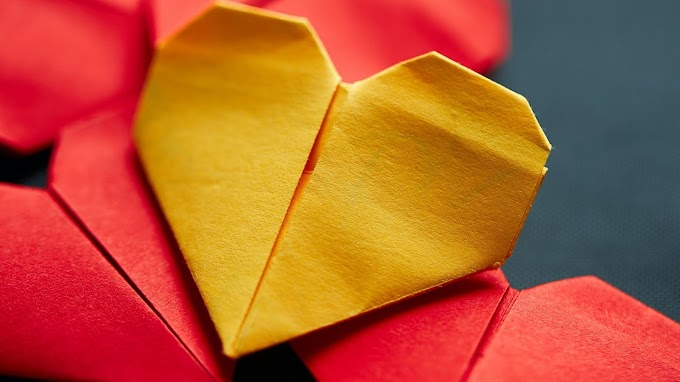 Papel de Parede Coração de Origami