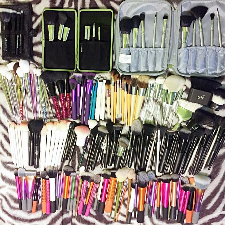 Makeup brush collection 2018
