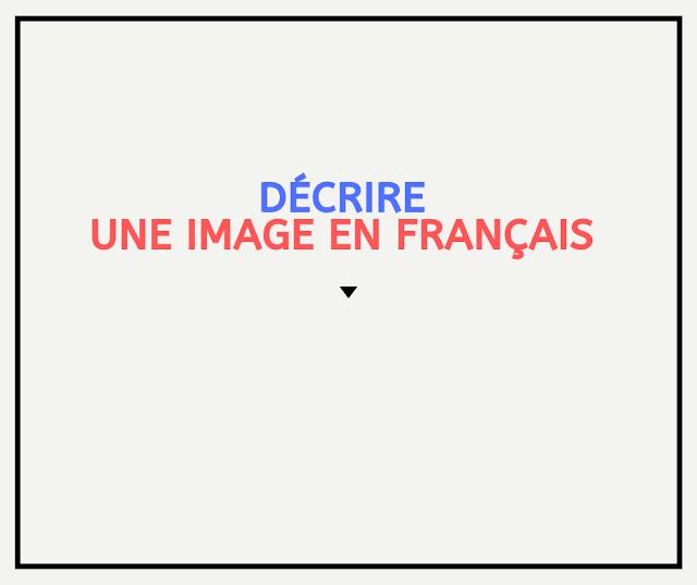 Décrire une image en français