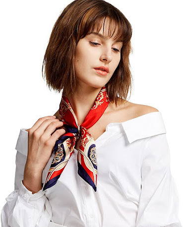 Attractive Red Satin Scarves