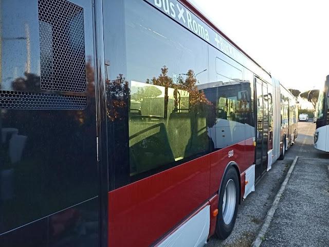 Atac: i nuovi bus snodati pronti per essere consegnati