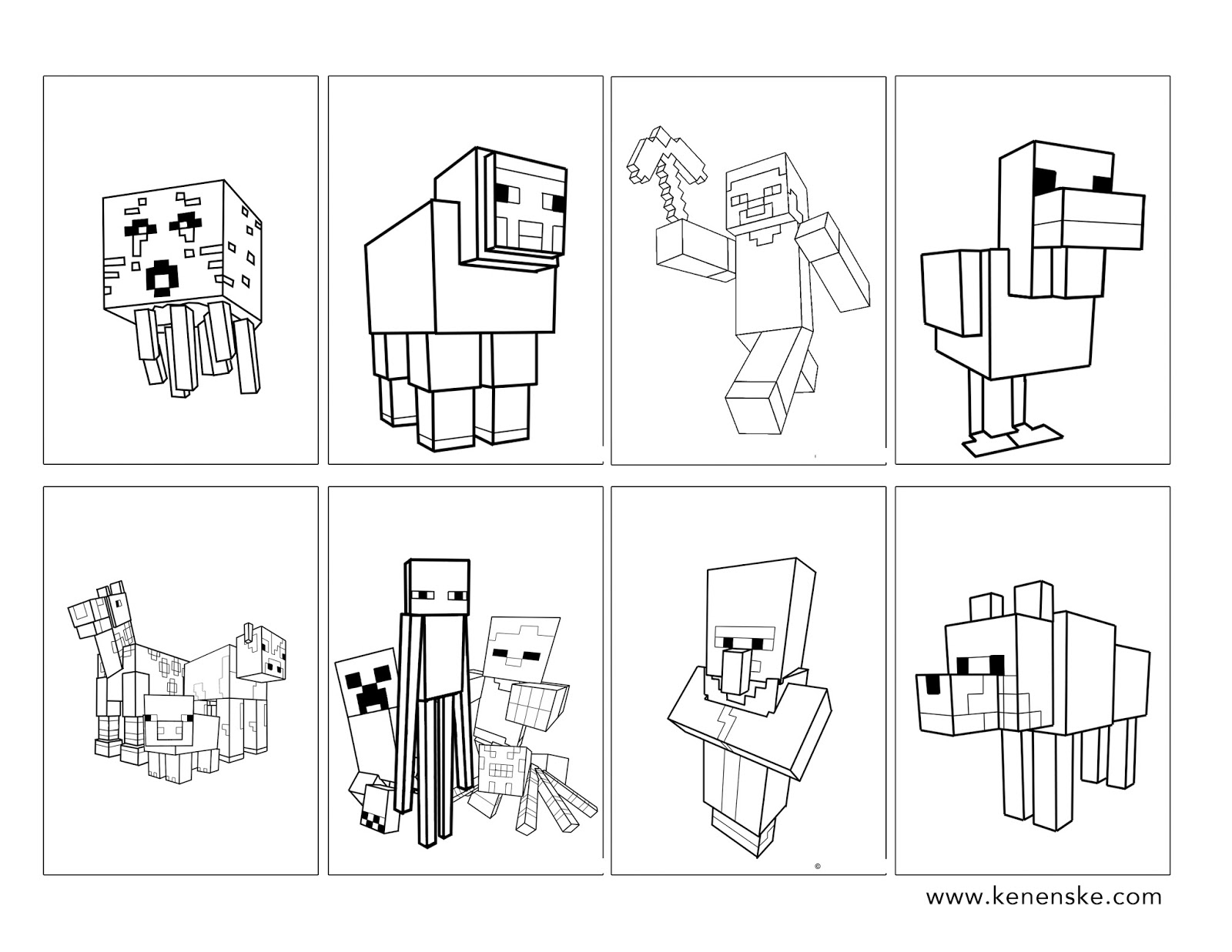 minecraft print out coloring pages - photo#11