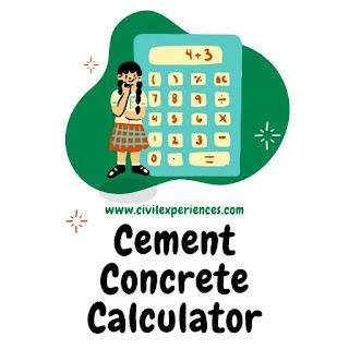 Cement Concrete Calculator | Find Cement Quantity Online