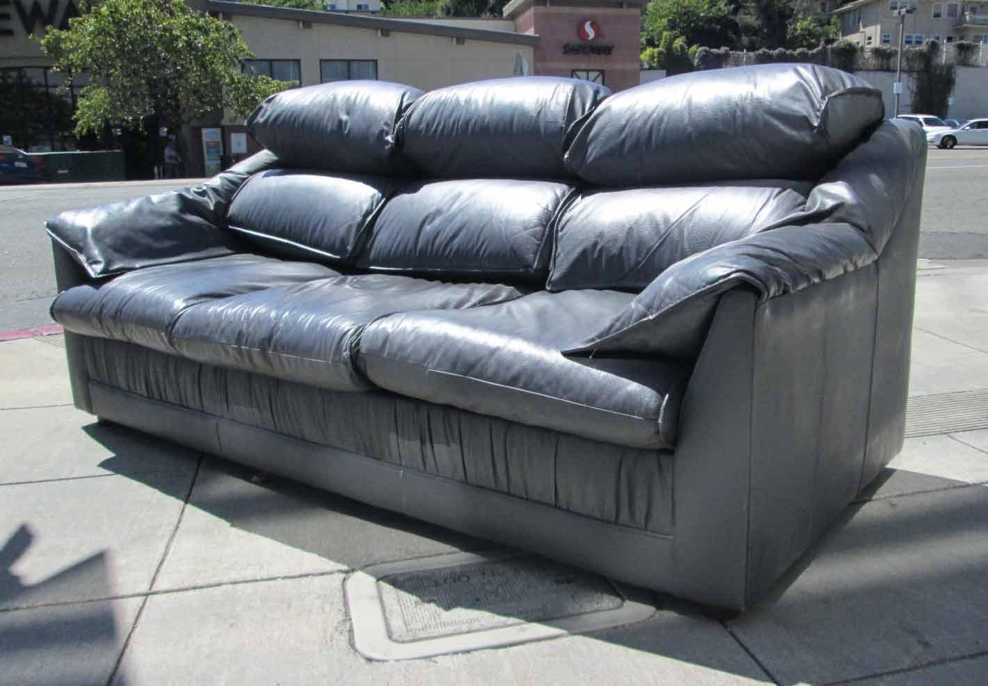 Sold Emerson Leather Sleeper 125 Sofa 95