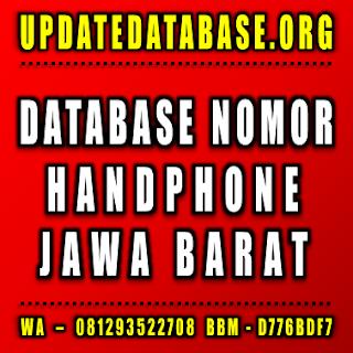 Jual Database Nomor Handphone Jawa Barat