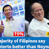 SWS Survey Results: Pres. Duterte is Better than Noynoy (70% vs. 8%)