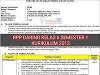 Download RPP Daring 1 Lembar SD/MI Kelas 6 Tema 1 Semester 1 Terbaru