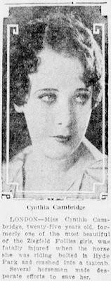 Cynthia Cambridge Death
