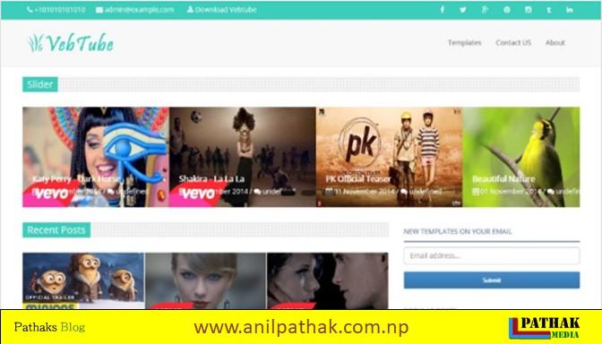 Photo Gallery Blogger Template - VebTube Blogger Template