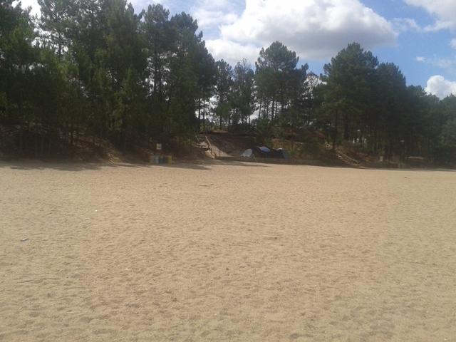 Entrada Areal da Praia Fluvial da Lomba