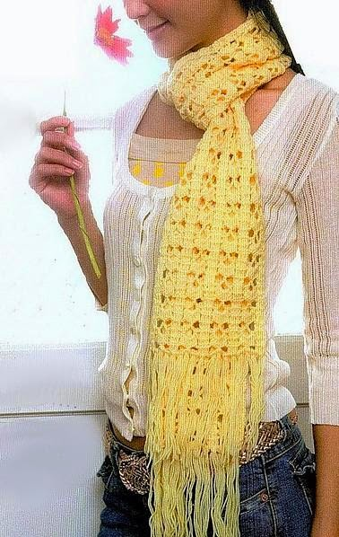 Patrón de Bufanda al crochet