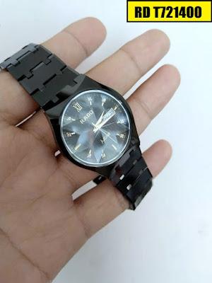 Đồng hồ đeo tay nam mặt tròn dây đá ceramic RD T721400