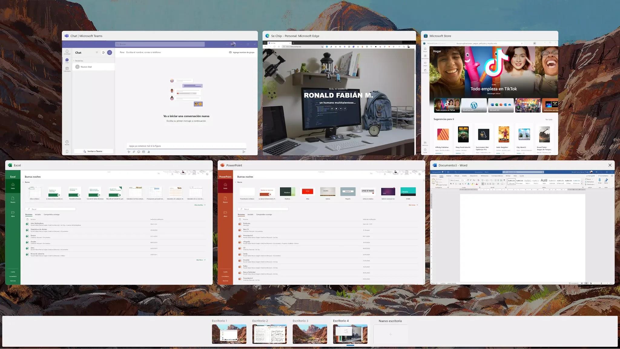 Multitarea de Windows 11