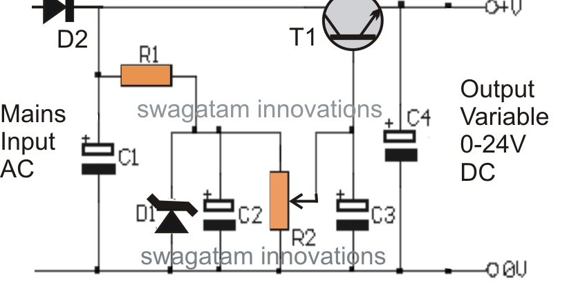 electronic circuit projects high current transformerless power supply